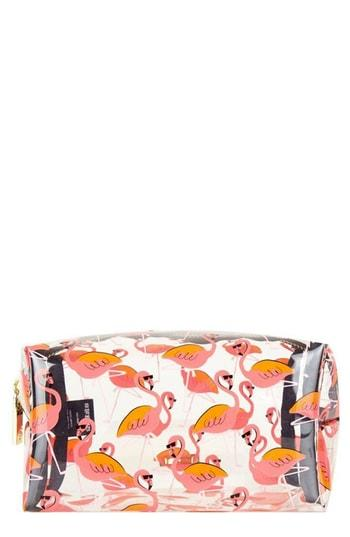 Skinny Dip Clear Flamingo Makeup Bag, Size - No Color