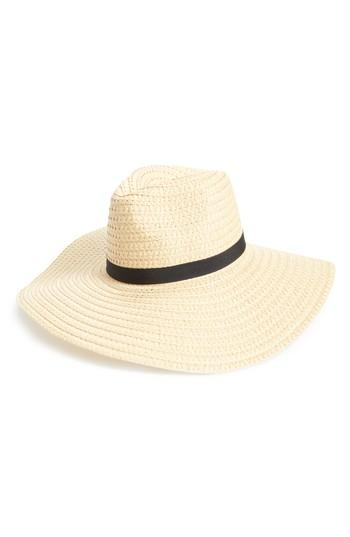 Women's Bp. Wide Brim Staw Hat - Beige
