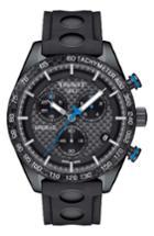 Men's Tissot Prs516 Chronograph Rubber Strap Watch, 42mm