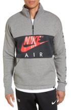 Men's Nike Air Quarter Zip Colorblock Pullover - Grey