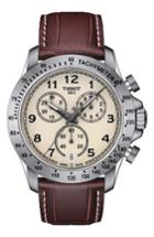 Men's Tissot V8 Chronograph Leather Strap Watch, 43mm