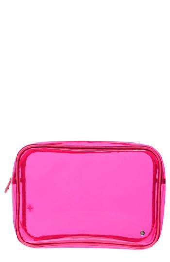 Stephanie Johnson Miami Jumbo Zip Cosmetics Case, Size - Miami Neon Pink
