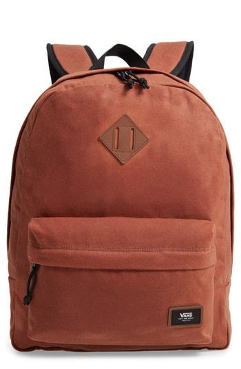 Men's Vans Old Skool Backpack - Brown