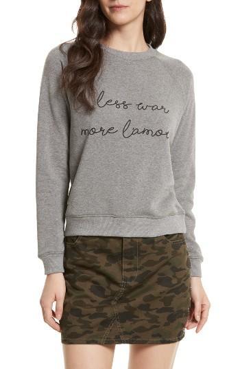 Women's Rebecca Minkoff Less War Sweatshirt, Size - Grey