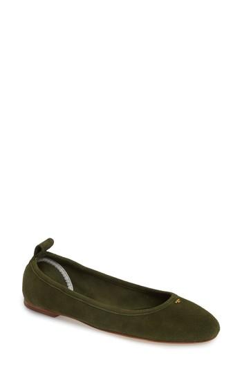 Women's Tory Burch Therese Ballet Flat M - Green