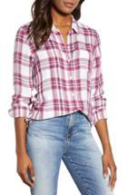 Women's Lucky Brand Classic Plaid Shirt - Purple