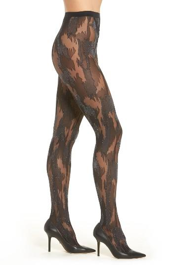 Women's Wolford Metallic Camouflage Tights