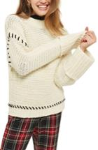 Women's Topshop Whipstitch Sweater - Ivory