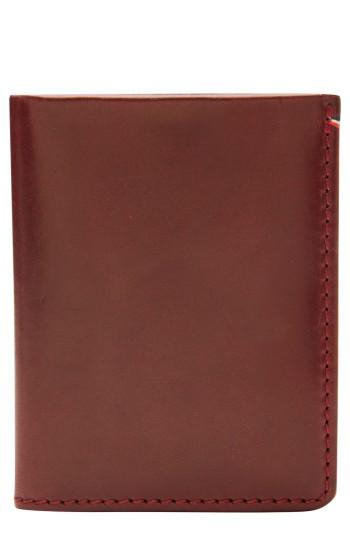 Men's Jack Mason Core Leather Wallet - Burgundy