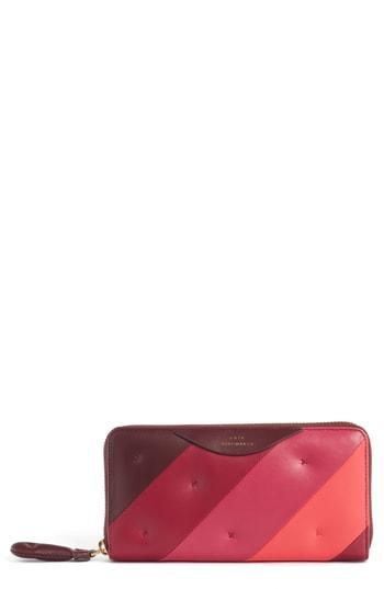 Women's Anya Hindmarch Chubby Zip Around Continental Wallet - Burgundy