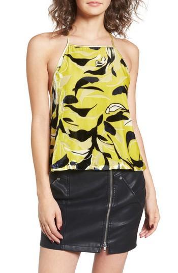 Women's Obey Savoy Velvet Cami - Yellow