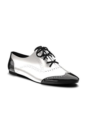 Women's Shoes Of Prey Leather Brogue Oxford, Size 13.5us / 47eu