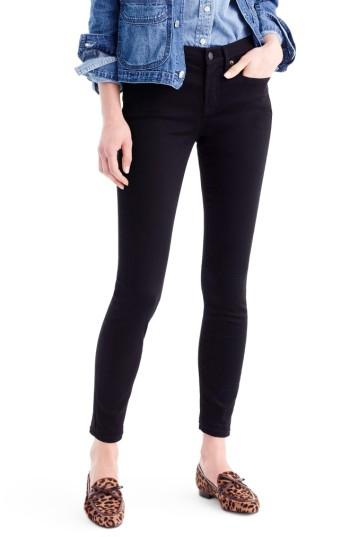 Petite Women's J.crew Toothpick Jeans P - Black
