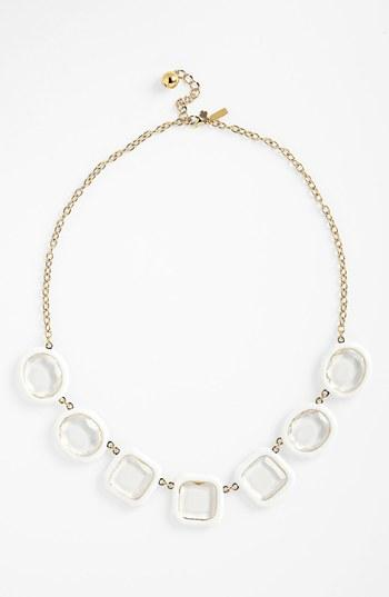 Kate Spade New York 'coated Confetti' Frontal Necklace White/
