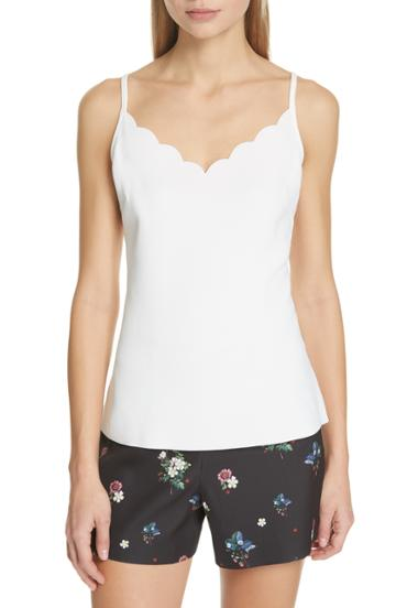 Women's Ted Baker London Siina Scallop Camisole - Ivory