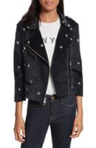 Women's Rebecca Minkoff Wes Star Stud Moto Jacket, Size - Blue