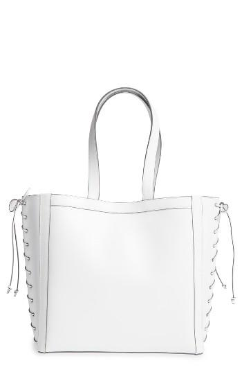 Max Mara Large Leather Shopper - White