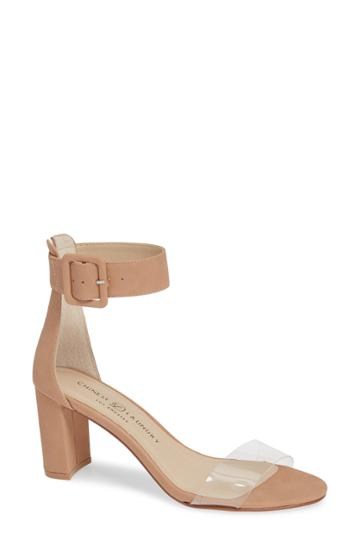 Women's Chinese Laundry Reggie Ankle Strap Sandal M - Beige