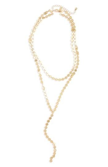 Women's Canvas Jewelry Tiered Y-necklace
