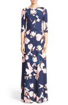 Women's Erdem Valentina Floral Print Jersey Gown