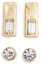 Women's Treasure & Bond Set Of 2 Crystal Studs