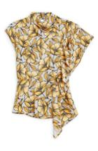 Women's Topshop Ruffle Blouse Us (fits Like 0) - Yellow