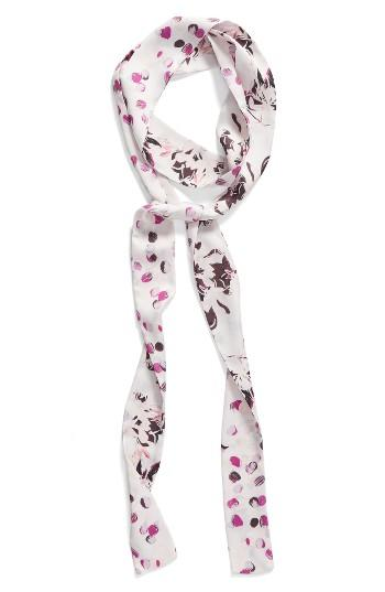 Women's Halogen Blossoms Skinny Scarf, Size - Pink