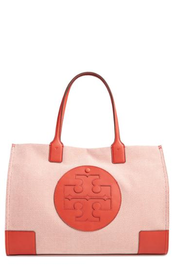 Tory Burch Ella Canvas Tote - Orange