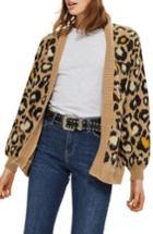 Women's Topshop Leopard Print Cardigan