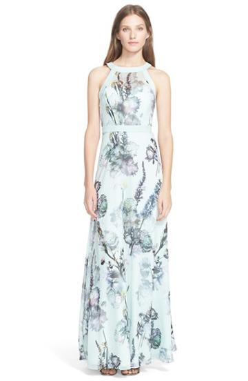 Women's Ted Baker London 'marxel Torchlit' Floral Print Maxi Dress