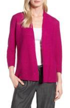 Women's Eileen Fisher Simple Organic Linen & Cotton Cardigan - Pink