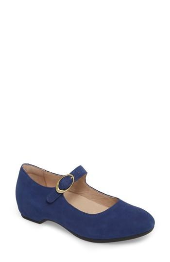 Women's Dansko Linette Mary Jane Wedge .5-6us / 36eu M - Blue
