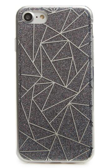 Bp. Geometric Glitter Iphone 6/6s/7 Case - Metallic