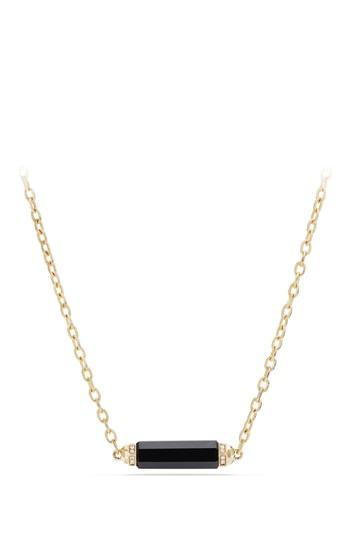 Women's David Yurman Barrels Single Station Necklace With Diamonds In 18k Gold