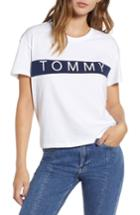 Women's Tommy Jeans Tommy Bold Logo Tee, Size - White