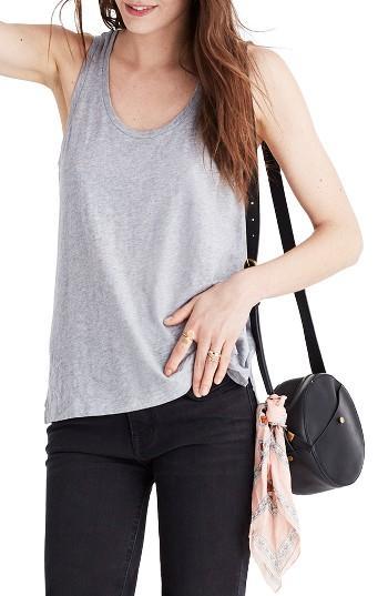 Women's Madewell Whisper Cotton Tank - Grey