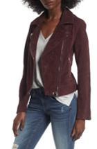 Women's Blanknyc Suede Moto Jacket - Burgundy