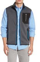 Men's Vineyard Vines Tech Sweater Fleece Vest - Grey