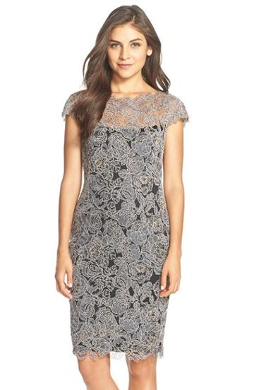 Women's Tadashi Shoji Embroidered Lace Sheath Dress