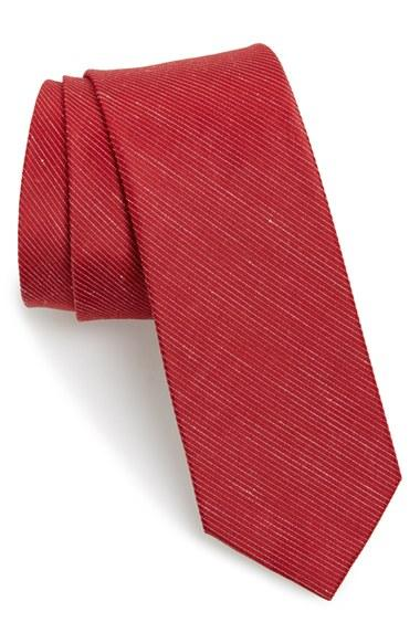Men's The Tie Bar Pinstripe Silk & Linen Tie