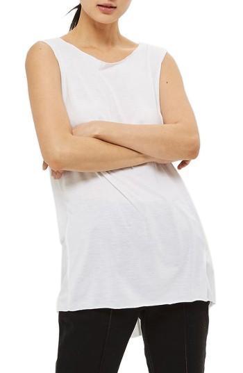 Women's Topshop Acid Wash Tank Us (fits Like 0) - White