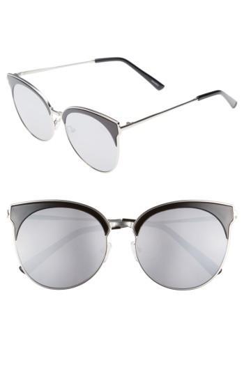 Women's Quay Australia Mia Bella 56mm Sunglasses - Black/ Silver