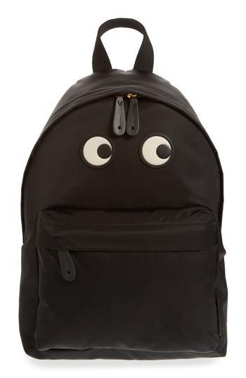 Anya Hindmarch Eyes Nylon Backpack - Black