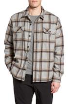 Men's Gramicci Tough Guy Plush Lined Flannel Shirt Jacket - Grey