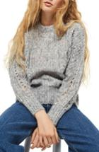 Women's Topshop Soft Nep Sweater Us (fits Like 0) - Grey