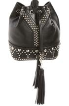 Saint Laurent Small Y Stud Calfskin Bucket Bag -