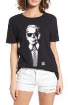 Women's Vans X Karl Lagerfeld Boyfriend Tee - Black