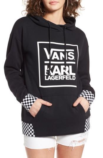 Women's Vans X Karl Lagerfeld Hoodie - Black