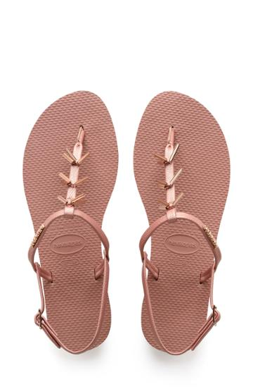 Women's Havaianas You Riviera Embellished Sandal /40 Br - Pink