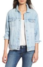 Women's Ag 'nancy' Three Quarter Sleeve Denim Jacket - Blue